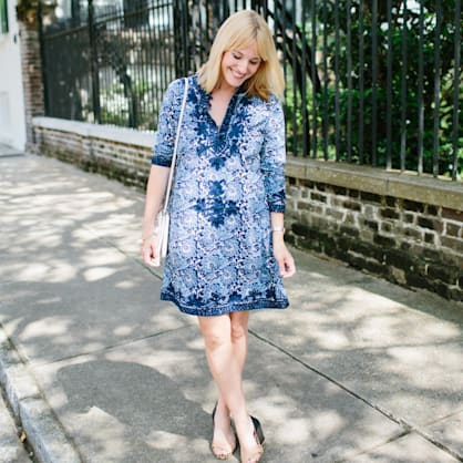 Street style tip of the day: Bright tunic