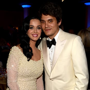 LOS ANGELES, CA - FEBRUARY 09:  Singers Katy Perry and John Mayer attend the 55th Annual GRAMMY Awards Pre-GRAMMY Gala and Salute to Industry Icons honoring L.A. Reid held at The Beverly Hilton on February 9, 2013 in Los Angeles, California.  (Photo by Larry Busacca/Getty Images for NARAS)