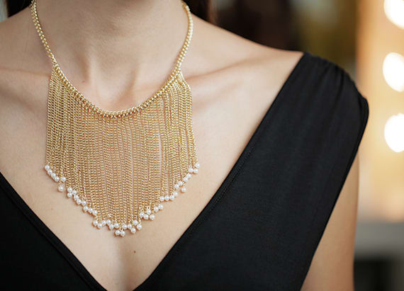 A bib necklace you can wear anywhere