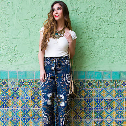 Street style tip of the day: Bold floral printed pants