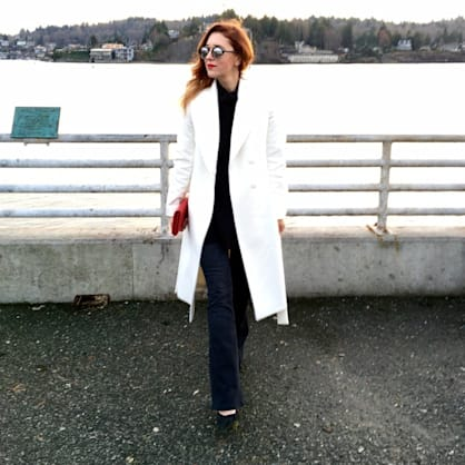 Street style tip of the day: White winter coat
