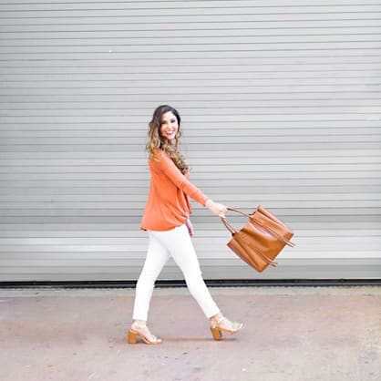 Street style tip of the day: Orange wrap top