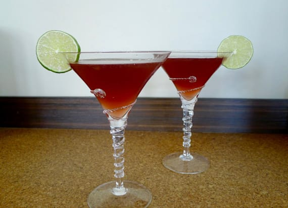Get fancy with this beautiful fall martini