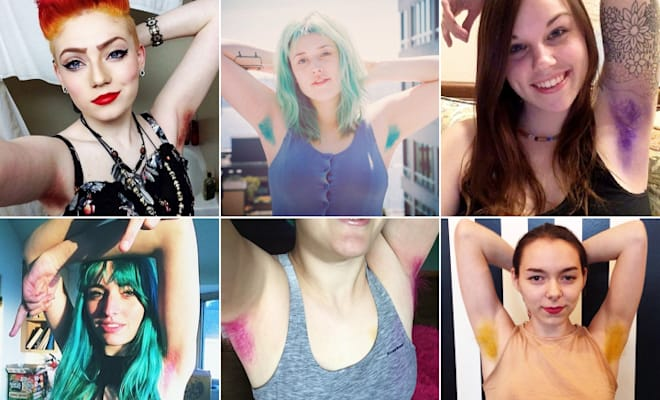 dyed armpit hair trend