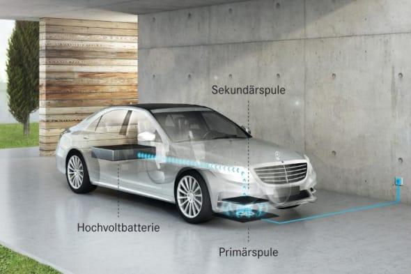 Plug-In Hybrid,  Induktion, Mercedes-Benz, laden, aufladen, strom, elektromobilität, laden ohne stecker, induktives laden