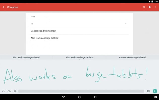 Now Android devices can understand your chickenscratch