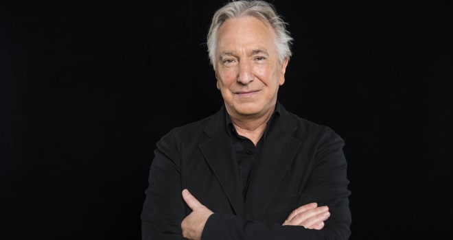 NEW YORK, NY - JUNE 19: Alan Rickman speaks about the film 'A Little Chaos' with Ricky Camilleri during a BUILD series event in New York, Friday June 19, 2015.  (Photo by Gabriela Landazuri Saltos, Huffington Post) *** Local Caption *** Alan Rickman