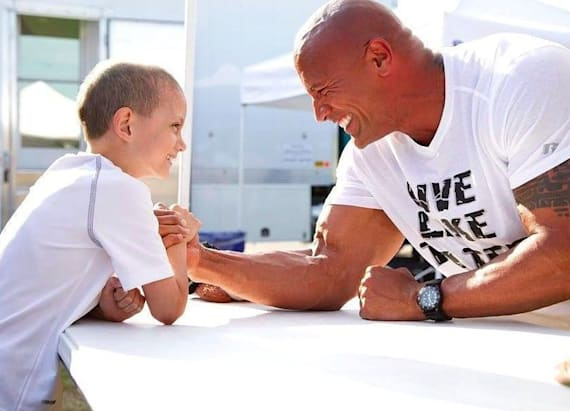 7-year-old meets his hero The Rock