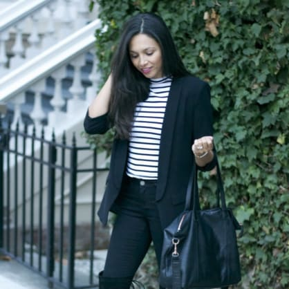 Street style tip of the day: Black on black