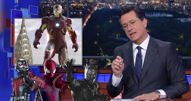 Stephen Colbert Calls For More Female Villains In Marvel Cinematic Universe