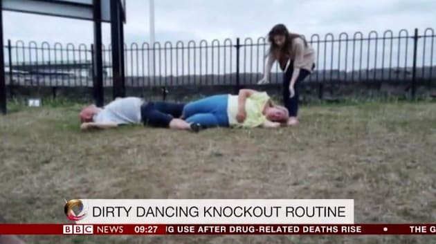 Couple knock themselves out trying to recreate Dirty Dancing scene in Somerset