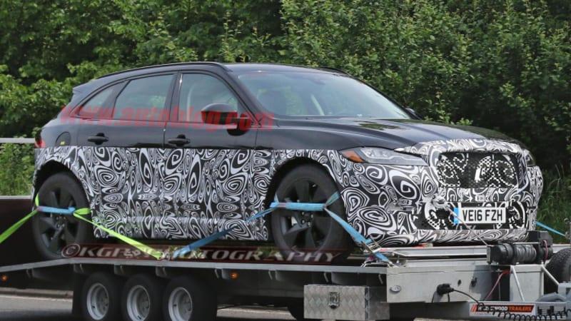 jaguar j pace crossover spied with diesel hybrid power autoblog. Black Bedroom Furniture Sets. Home Design Ideas