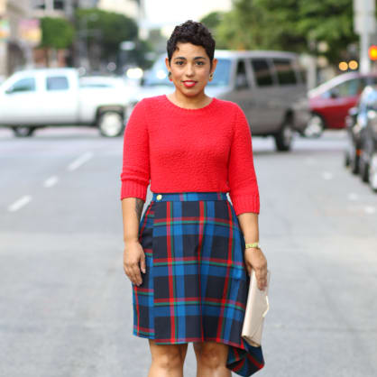 Street style tip of the day: Plaid skirt