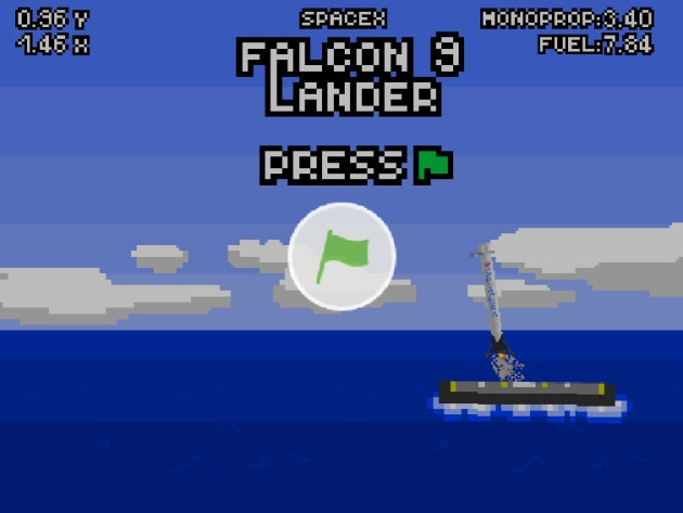 This web game shows that landing a Falcon 9 rocket is pretty much impossible