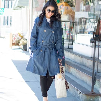 Street style tip of the day: Denim trench coat
