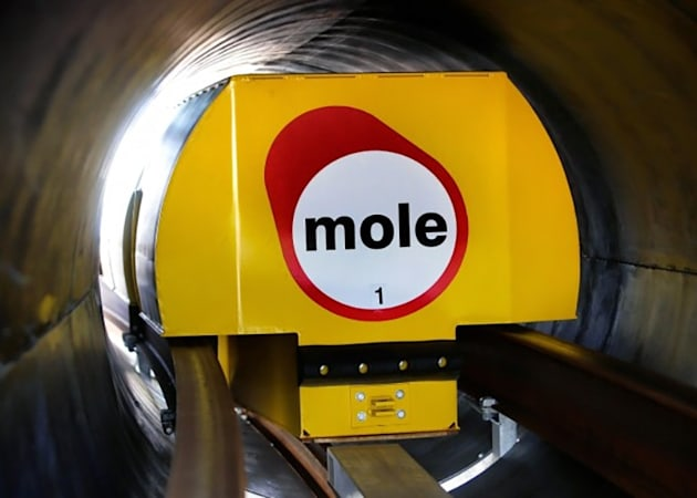 Northampton's testing magnetic underground delivery 'moles'