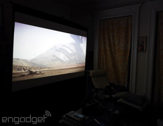 How I fit a 100-inch projector setup in my NYC apartment
