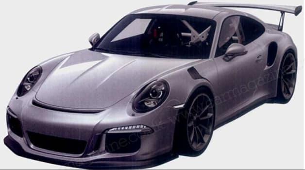 Porsche 911 GT3 RS patent photos