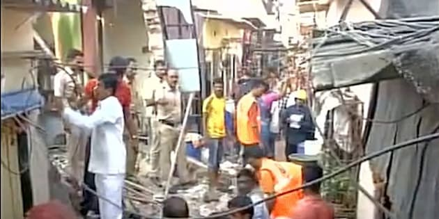 Building collapses in Mumbai's Mankhurd area