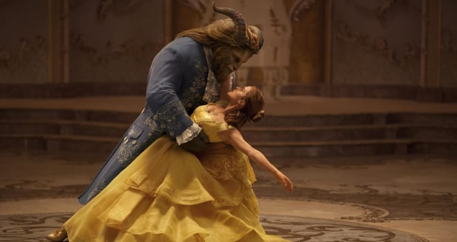 Emma Watson stars as Belle and Dan Stevens as the Beast in Disney's BEAUTY AND THE BEAST, a live-action adaptation of the studio's animated classic directed by Bill Condon.