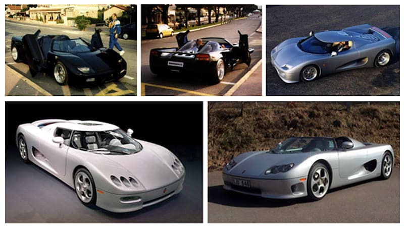 Koenigsegg prototypes 1994-2002