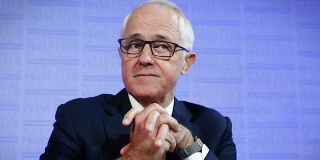 Alex Ellinghausen  Fairfax                       Prime Minister Malcolm Turnbull addresses the National Press Club