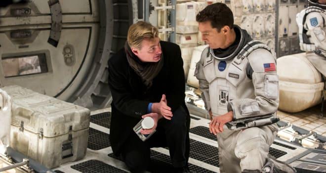 Christopher Nolan and Matthew McConaughey in Interstellar