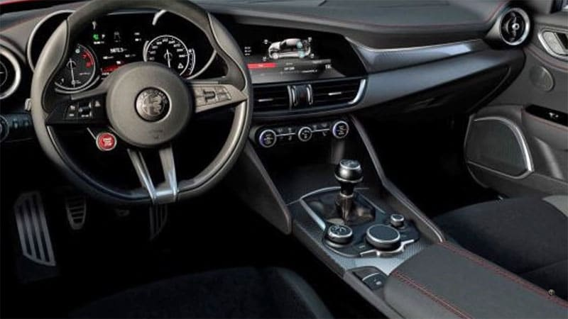 alfa romeo giulia interior revealed on youtube autoblog. Black Bedroom Furniture Sets. Home Design Ideas