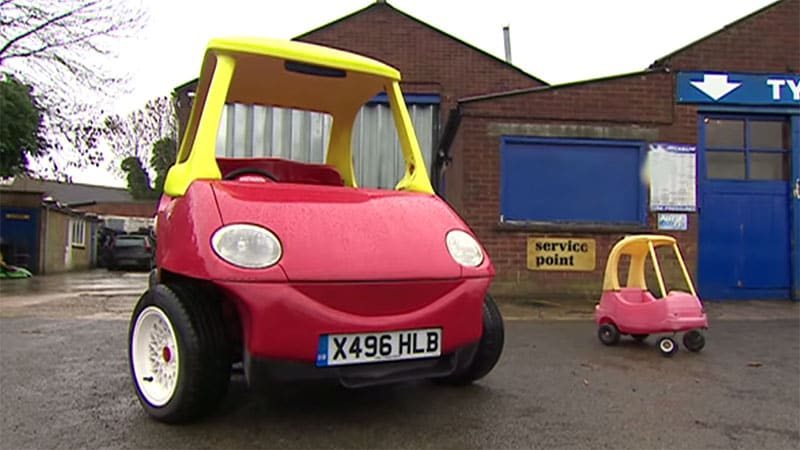 You can buy the grown up road legal little tikes car - Little tikes cosy coupe car best price ...
