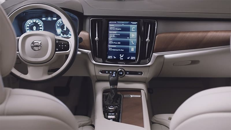 take a closer look at the interior of the 2017 volvo s90 autoblog. Black Bedroom Furniture Sets. Home Design Ideas
