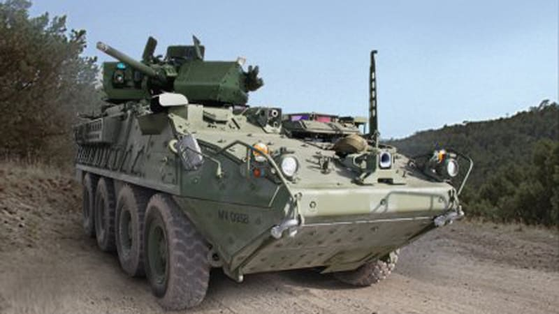 Army Stryker gets 30-mm cannon in remote-controlled turret
