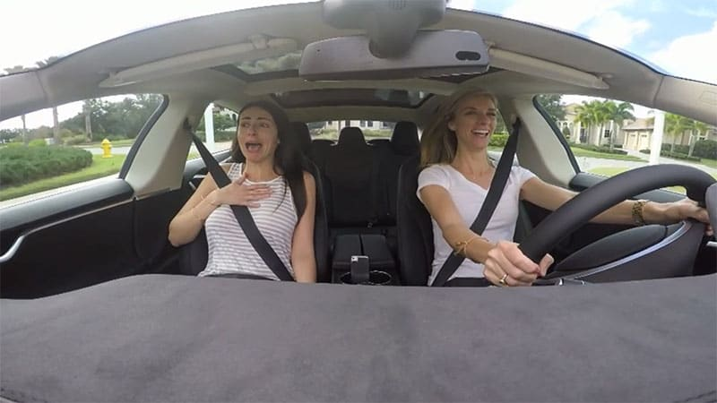 Compare Car Insurance Quotes >> Watch two women fall in love with Tesla Model S P85D - Autoblog