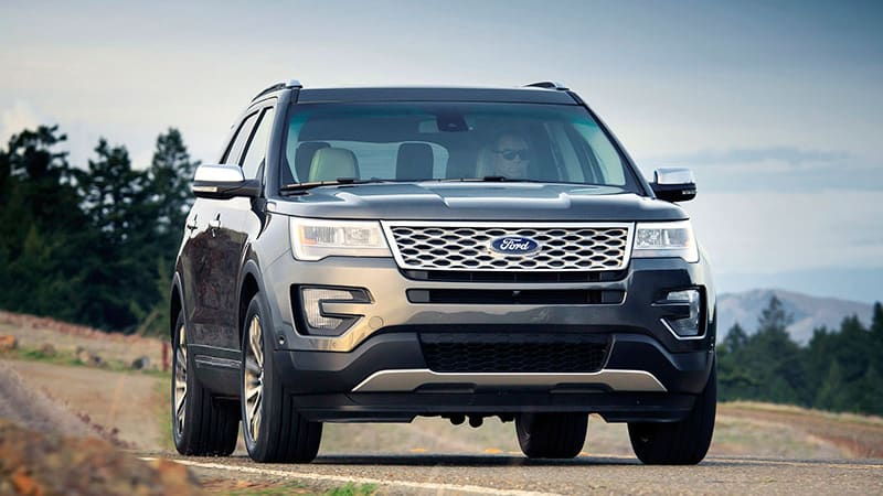 This is the 2016 Ford Explorer Platinum, full of Nirvana