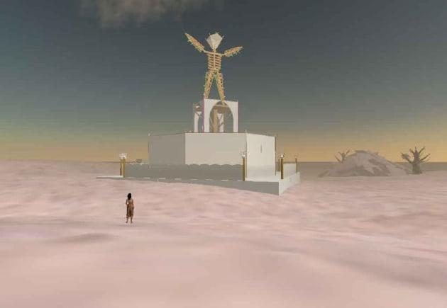 Burning Man at Second Life