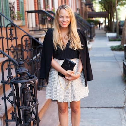 Street style tip of the day: Lace skirt