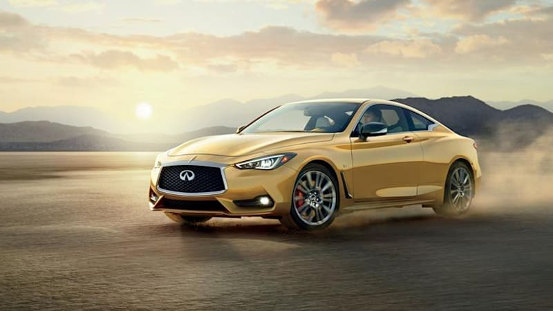 2017 Infiniti Q60 glitters in gold for the Neiman Marcus Christmas catalog