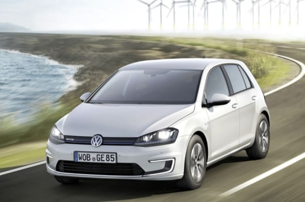 Volkswagen unveils the e-Golf at the Frankfurt Motor Show.