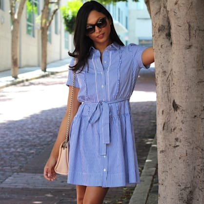 Street style tip of the day: Summer shirtdress