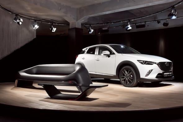 Kodo Design, Mazda, Kodo, Design Week,   Mazda Sofa, Mazda Fahrrad, Sofa, Fahrrad, Mailand Möbelmesse