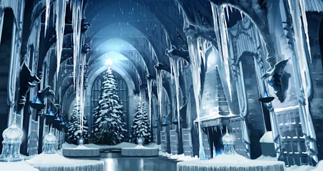 harry potter, yule ball, harry potter and the goblet of fire, hogwarts, great hall, the wizarding world of harry potter, universal orlando