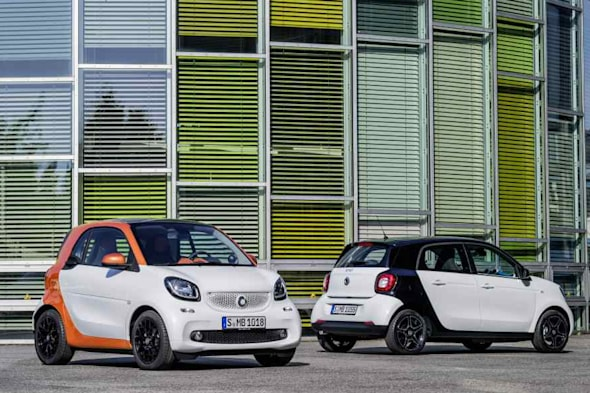 smart for two, smart forfour, smart fortwo 2015, smart forfour 2015, der neue smart smart 2015, debüt, premiere, offiziell, fotos, pics,