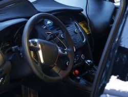 Ford Focus redesign spy shot interior