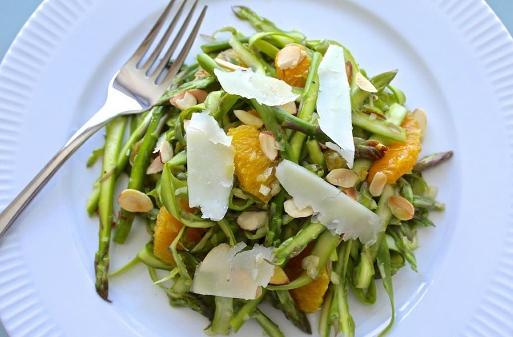 Shaved Asparagus Salad with Oranges, Almonds and Manchego - AOL Food