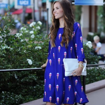 Street style tip of the day: Ice cream dress