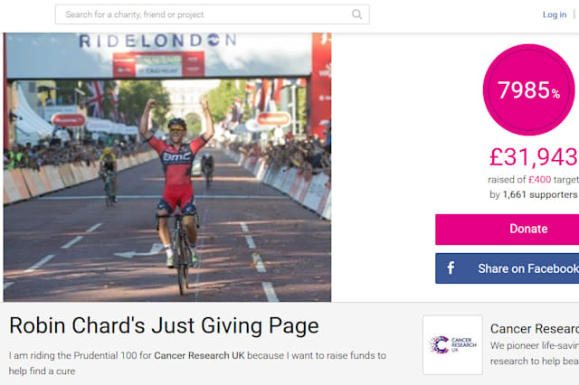Over £30,000 has already been raised in Mr Chard's memory