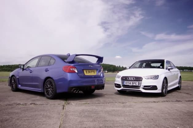 Subaru WRX STI versus the Audi S3 Sedan