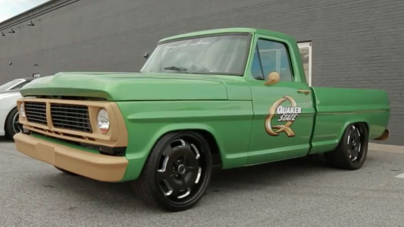 This 1969 Ford F-100 has a Cadillac CTS-V engine lurking underhood