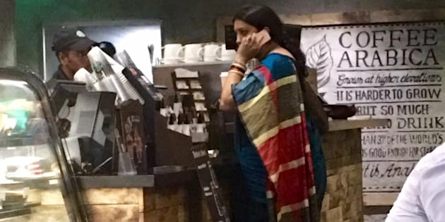 Smriti Irani stands in queue, places order at Starbucks just like us