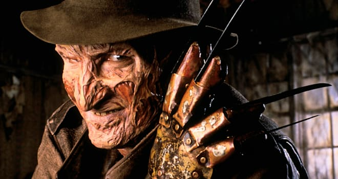 "robert englund as freddy krueger in ""a nightmare on elm street"""