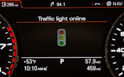 Audi Online traffic light information system